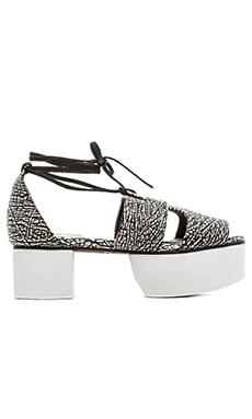 Matiko Xandra Platform Sandal in Black & White
