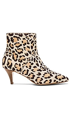 Autumn Cow Hair Booties in Leopard