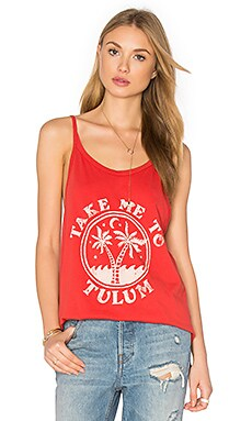 Tulum Tank in Red