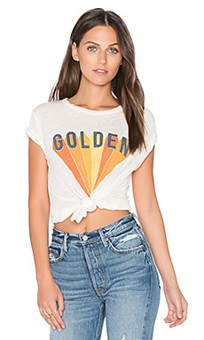 Golden Beau Tee in White Vintage