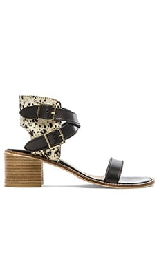 Matisse Orin Cow Hair Sandal in Black