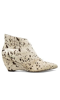 Matisse Nugent Cow Hair Bootie in White & Black