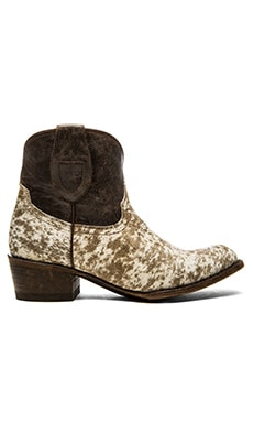 Ranger Cow Hair Bootie in Brown
