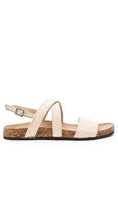 Matisse Frisky Cow Hair Sandal in Natural