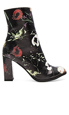 Graffiti Booties in Black Floral