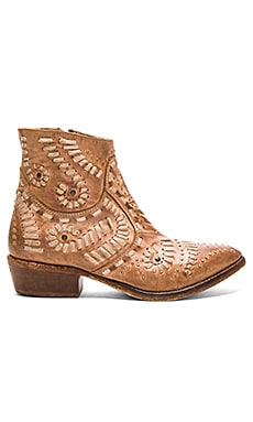 Fiesta Booties in Tan
