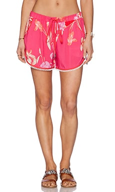 Matthew Williamson Drawstring Shorts in Hot Pink