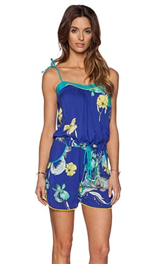 Matthew Williamson Drawstring Romper in Deep Sea