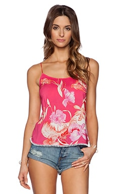 Matthew Williamson Tropical Tank Top in Hot Pink