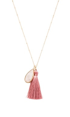 Melanie Auld The Island Necklace in Moonstone & Pink Coral