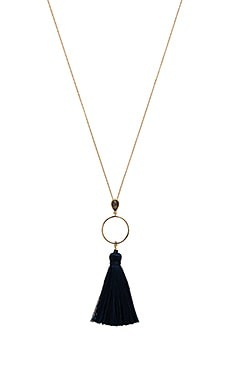 Open Circle Tassel Necklace