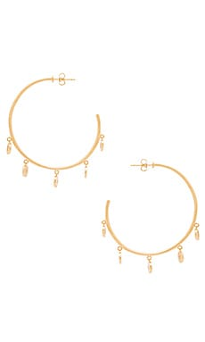 Mini Disc Hoops en Or