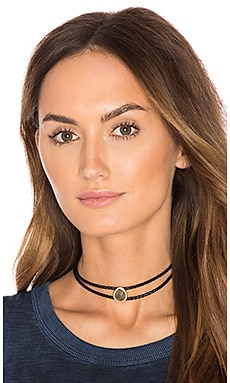Double Braided Choker in Labradorite