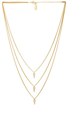 Melanie Auld Triple Pave Triangle Necklace in Gold