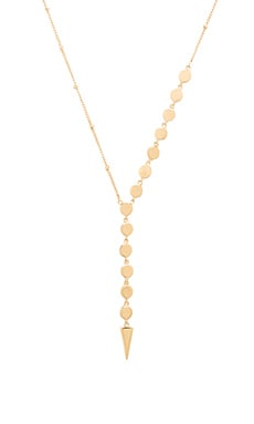 Melanie Auld Lariat Disc Necklace in Gold