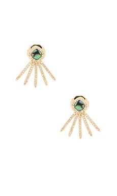 Melanie Auld Pave Glam Stud Earring in Alabone