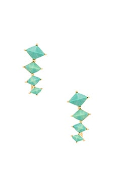Melanie Auld Stone Diamond Ear Climber in Turquoise