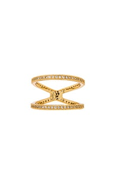 Melanie Auld Pave 2 Tier Ring in Gold