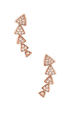 Melanie Auld Multi Triangle Ear Cuff in Rose Gold & Clear