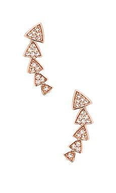 Melanie Auld Multi Triangle Ear Cuff in Rose Gold & Clear