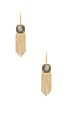 Melanie Auld Cushion Cut Fringe Earring in Labradorite