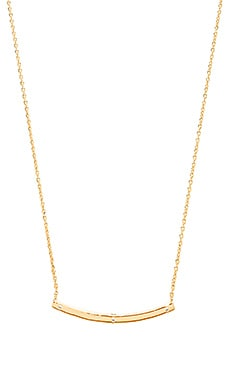 Melanie Auld Curved Bar Necklace in Gold