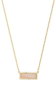Melanie Auld Pave Bar Necklace in Cream Druzy