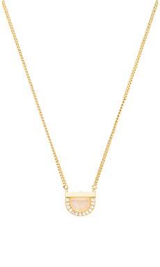 Melanie Auld Half Circle Necklace in Moonstone