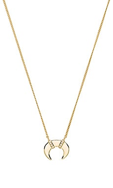 Melanie Auld Mini Double Tusk Necklace in Gold