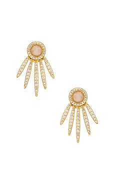 Melanie Auld 5 Point Stud Earring in Moonstone