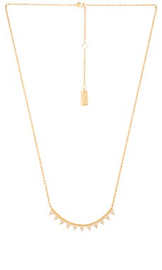 Melanie Auld Mini Triangle Bar Necklace in Gold