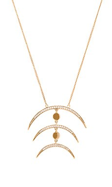 Melanie Auld Multi Crescent Necklace in Gold