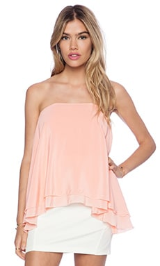Maurie & Eve Imperial Strapless Top in Quartz Rose