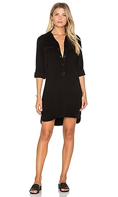 maven west Cargo Pocket Shift Dress in Black