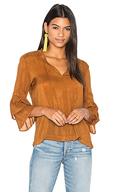Ruffled Peasant Sleeve Top