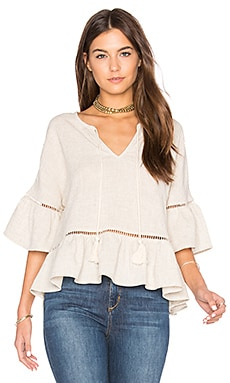 Ruffle Lattice Top