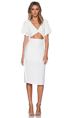 May. Swoon Midi Dress in White