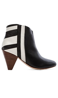 Matt Bernson Grand Prix Jardin Bootie in Black & White Moto