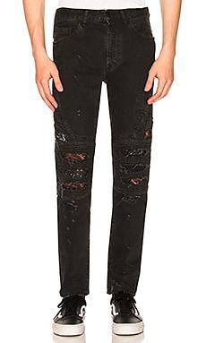 Black Snake Biker Jeans