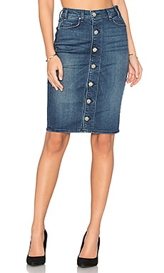 Marino Button Front Skirt