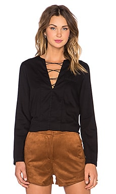 MCGUIRE Penelope Lace Up Shirt in Anisette