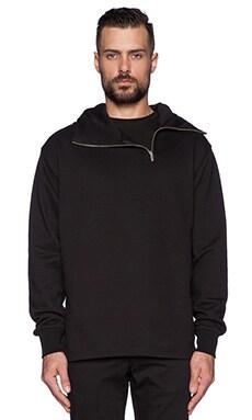 McQ Alexander McQueen Zip Hoodie in Darkest Black
