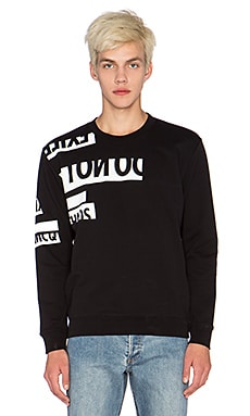 McQ Alexander McQueen Clean Crew Neck Sweatshirt in Darkest black