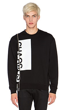McQ Alexander McQueen Zip Sweatshirt in Darkest Black