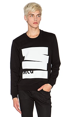 McQ Alexander McQueen Clean Crew Neck in Darkest Black