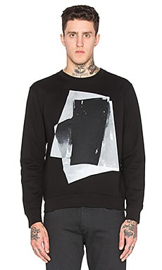 McQ Alexander McQueen Clean Crewneck in Darkest Black