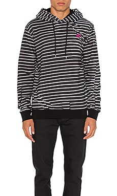 McQ Alexander McQueen Clean Hoodie in Broken Stripe