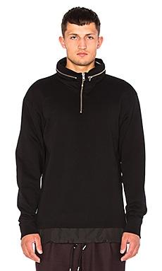 McQ Alexander McQueen Sweatshirt Windbreaker in Darkest Black
