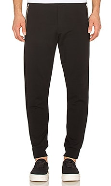 McQ Alexander McQueen Zip Tux Trouser in Darkest Black