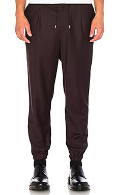 McQ Alexander McQueen Tailored Trackpant in Burgundy